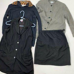 Mimi Maternity Mix of 4 Career Mini Skirt S Black
